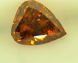 0.32ct Fancy Deep Red Orange  Diamond , 100% Natural Untreated