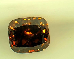 0.26ct Fancy Dark reddish brownish Orange Diamond , 100% Natural Untreated