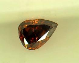 0.115ct Fancy Dark Orangy Red  Diamond , 100% Natural Untreated