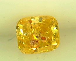0.22ct Fancy Vivid greenish Yellow Diamond , 100% Natural Untreated