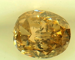 0.48ct Fancy Brown Yellow  Diamond , 100% Natural Untreated