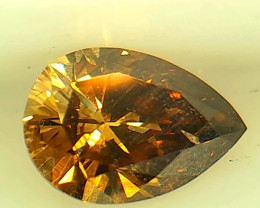 0.39ct  Fancy Yellow Orange Diamond , 100% Natural Untreated
