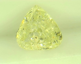 0.61ct Fancy Light yellowish Green  Diamond , 100% Natural Untreated
