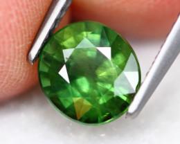 2.01Ct Natural Green Sapphire Oval Cut  ~ A16/3