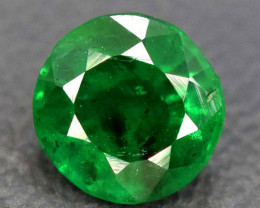 0.55 Carats Round Cut Top Quality Deep Green Color Natural Rare Swat Emeral