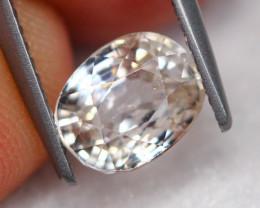 3.20Ct Natural VS Clarity White Zircon Oval Cut ~ FA15/26