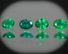 Green Emerald  0.64 ct Zambia GPC Lab
