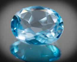 Blue Topaz 7.42 ct Brazil GPC Lab