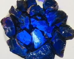 1kg  Blue Amber AAA+ Sumatran Blue Amber Facet Grade + Cherry Color