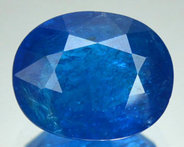 2.84 Cts Untreated Natural Neon Blue Apatite Oval Cut Madagascar