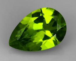 3.30 Cts High Best Natural Apple Green pear Pakistan Peridot~