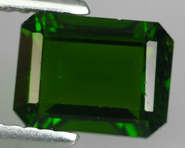 1.90 CTS NATURAL ULTRA RARE CHROME TOP GREEN DIOPSIDE RUSSIA~