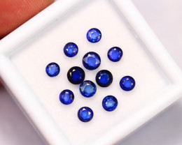 2.39Ct Natural VS Clarity Blue Sapphire Auction 3.7-3.0mm ~ FB17/14