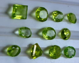 9.90 CT Natural - Unheated  Green Peridot Gemstone Lot