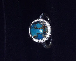 Mojave Blue Turquoise Cabochon Ring in Sterling Silver