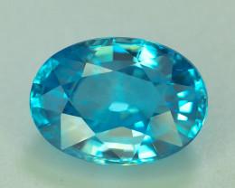 AAA Brilliance 4.40 ct Blue Zircon Cambodia