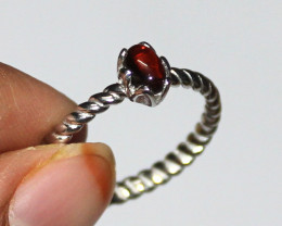 Natural Tourmaline 925 Sterling Silver Ring Size (9 US) 15