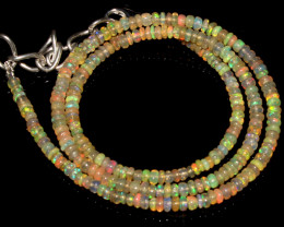 26 Crts Natural Ethiopian Welo Fire Opal Beads Necklace 57