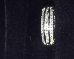 Diamond Ring 0.33ct. In Platinum & Gold Overlay Sterling Silver