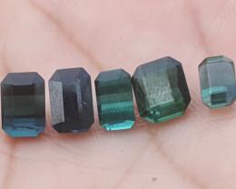 7.2 carats indicolite blue color Tourmaline Gemstone parcels