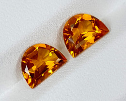 2.20Crt Madeira Citrine Pair  Best Grade Gemstones JI130