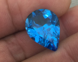 (B1) Gorgeous London Blue  Topaz  10.0ct Pear  100% Natural