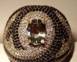 SALE !!!  !560 Diamonds with Alexandrite ,18K GORGEOUS !!