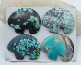 256cts turquoise cabochon beads elephone shape semi-gem (A626)