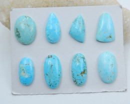 134cts Rare high quality sleepy turquoise cabochon beads semi-gem (A628)