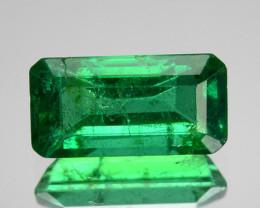 0.76 Cts GLITTERING NATURAL GREEN EMERALD ZAMBIA OCTAGON