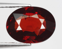 3.13 Ct Spessartite Garnet Pure Red Gem Quality Gemstone SG2