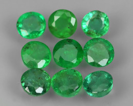 1.00 CTS EXCELLENT~NATURAL EMERALD ~ ROUND  ~ NICE QUALITY GOOD COLOR GOOD