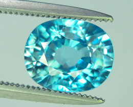 AAA Brilliance 3.10 ct Blue Zircon Cambodia