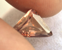 2.06 Carat Triangle Cut Rose Zircon