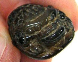 AGATE STONE ANIMAL CARVING 30.35 CTS SGS 457