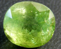 AAA QUALITY GRADE LIGHT EMERALD GREEN TOURMALINE 7CT SGS 563