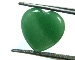 BEAUTIFUL STONE HEART CARVING 4.70 CTS SGS 638