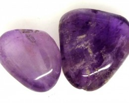 AMETHYST BEAD NATURAL 2 PCS 24.6 CTS  NP-1584