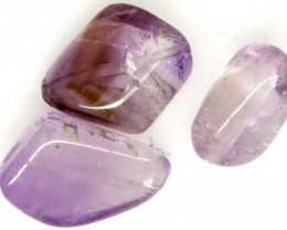 AMETHYST BEAD NATURAL 3 PCS 26.3 CTS NP-1588