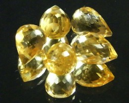 AAAA FLAWLESS GOLDEN YELLOW TOPAZ PARCEL 13.90 CTS SGS 684