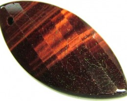 TIGER EYE RED -DRILLED TOP 12.8 CTS [MX1756]