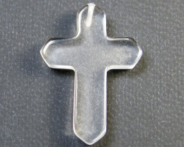 CRYSTAL MOON STONE CROSS 8.40 CTS SGS 792