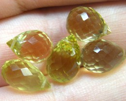 AAAA VS1 FLAWLESS BIOLETTE BEADS LEMON TOPAZ 16.6CTS SGS 831