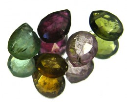 AAAA SPARKLING BRIOLETE TOURMALINE BEADS 5.50 CTS SGS 841