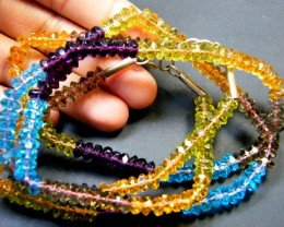 MULTI COLOUR CRYSTAL STRING BEADS 175 CTS SGS 880