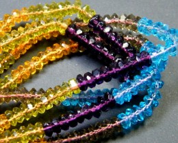 MULTI COLOUR CRYSTAL STRING BEADS 175 CTS SGS 881