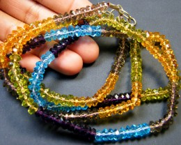 MULTI COLOUR CRYSTAL STRING BEADS 175 CTS SGS 882