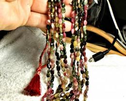 466.0 Tcw. Five Strand Fancy Tourmaline Necklace - Elegant
