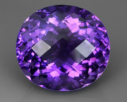 56.10 CTS SUPERIOR! TOP PURPLE-VIOLET-AMETHIYST OVAL GENUINE