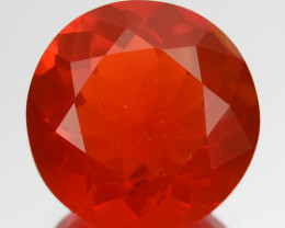 ~BEAUTIFUL~ 2.94 Cts Natural Reddish Orange Fire Opal Round Cut Mexico
